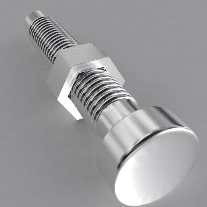 3d model of screw bolt