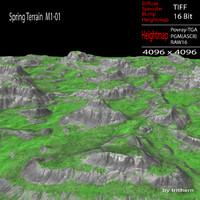 3dsmax spring terrain m1-01