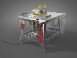 table saw 3d model