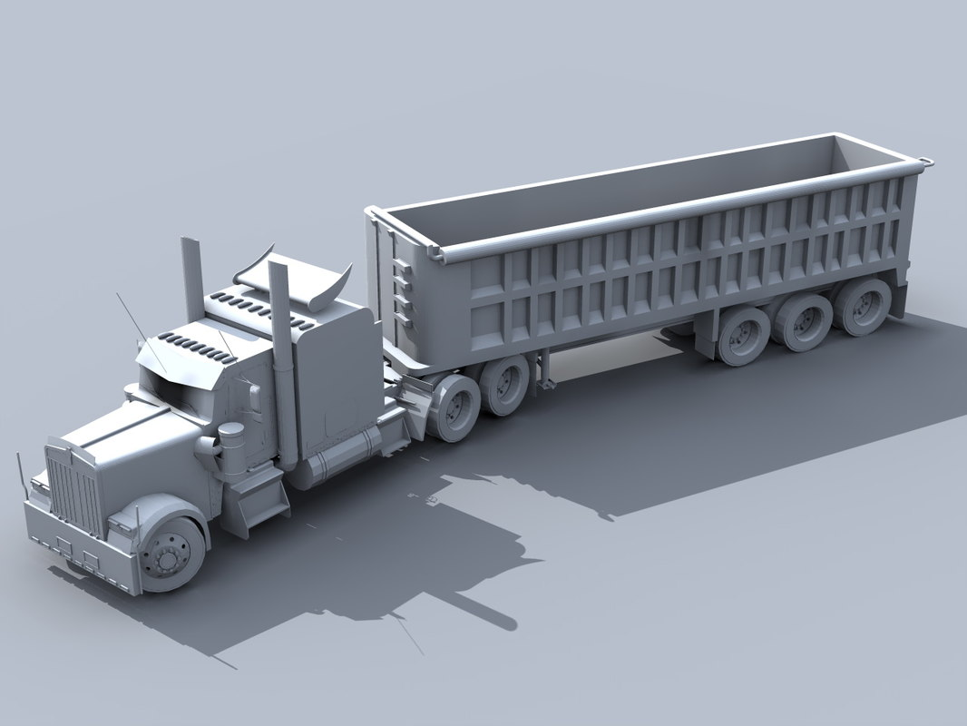 3d model of heavy truck