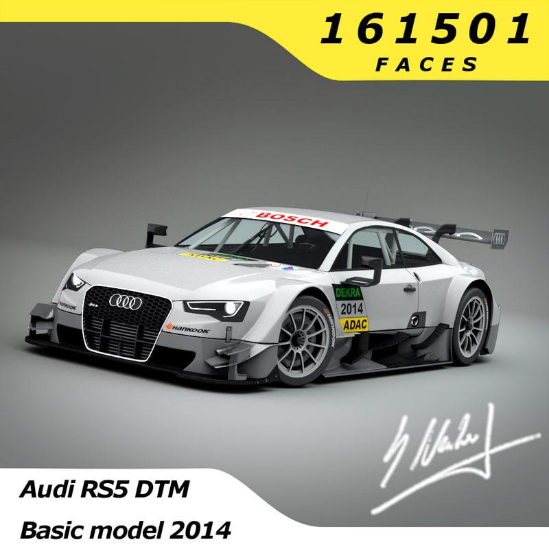 3d model audi rs5 dtm 2014
