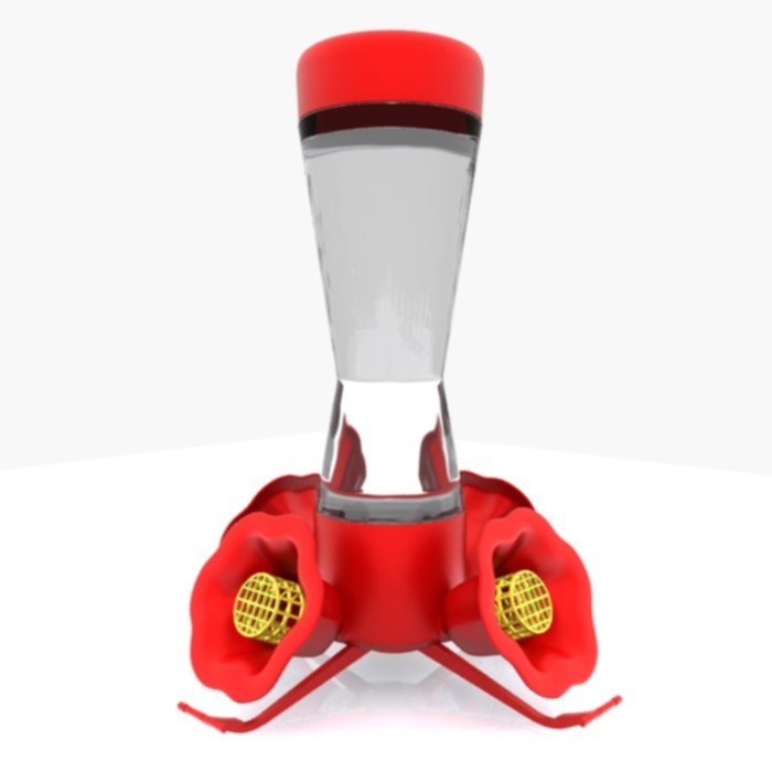 3d model humming bird feeder