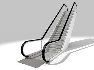 3d walkway escalator model