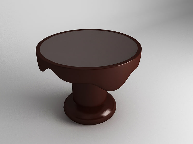 3d chocolate table model