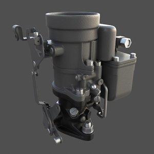 3d willys carburetor model