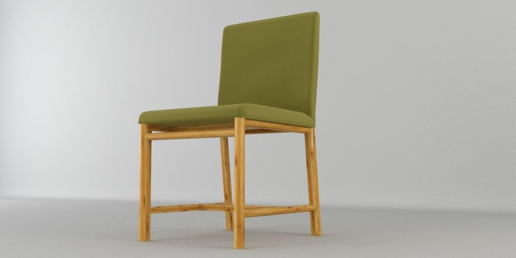 3d beech wood chair model