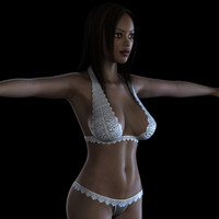 3d model female body