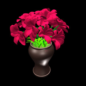 obj red flower