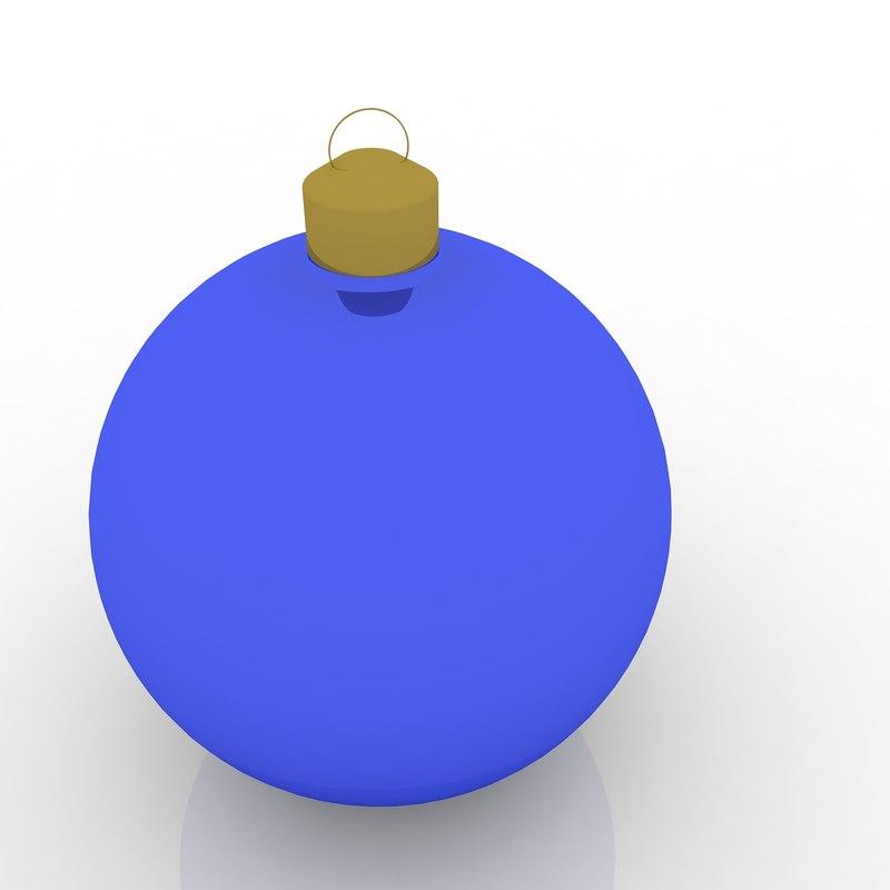 christmas ornament ball 3d 3ds