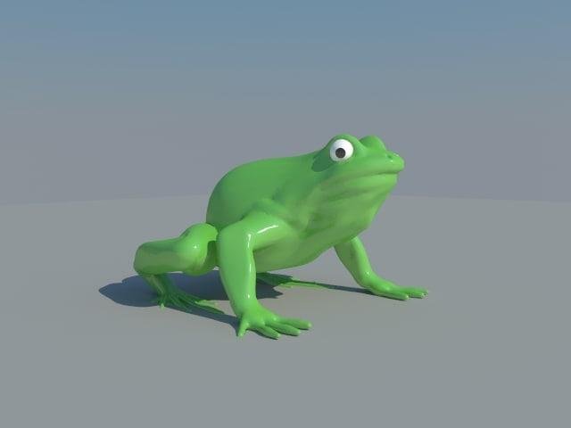 green frog 3d max