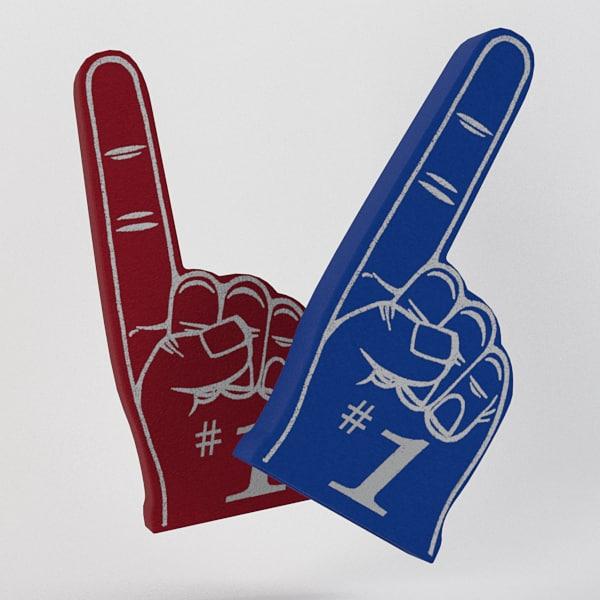 3d styrofoam finger