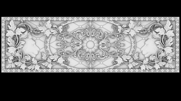 3d model classical fretwork