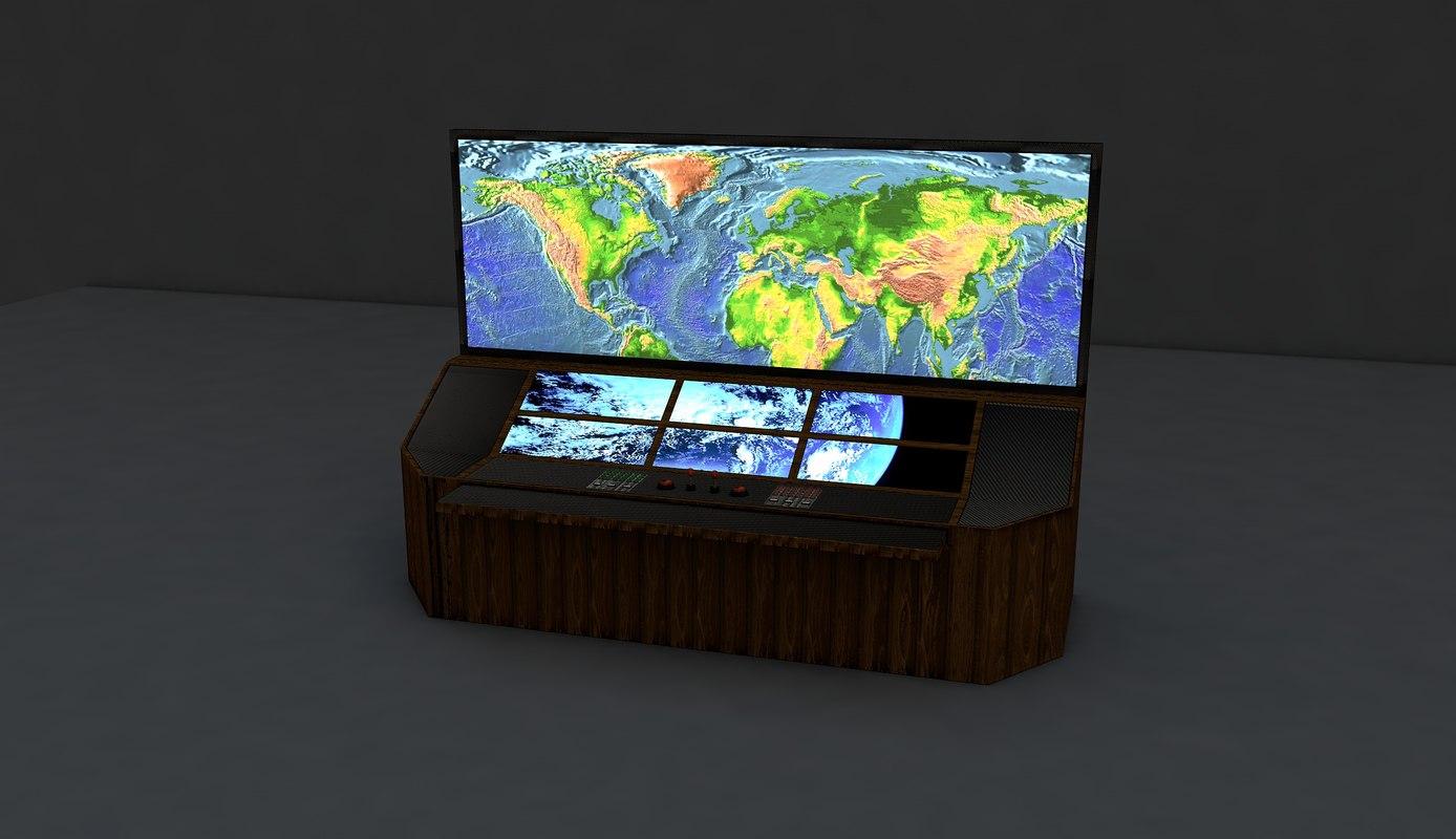 3d control-desk model