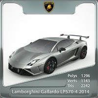 3d model lamborghini gallardo 2014