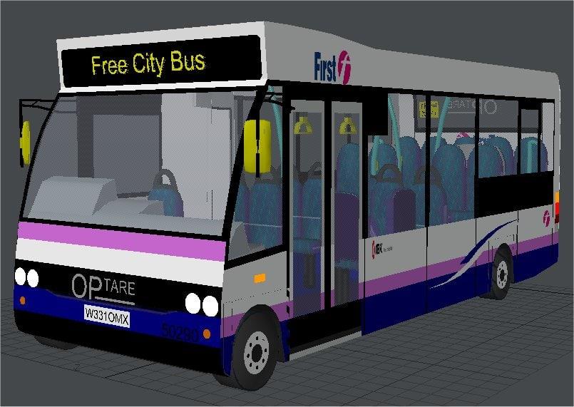 3d model mini bus buses