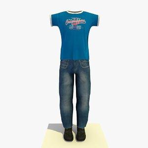 3ds man clothes t-shirt