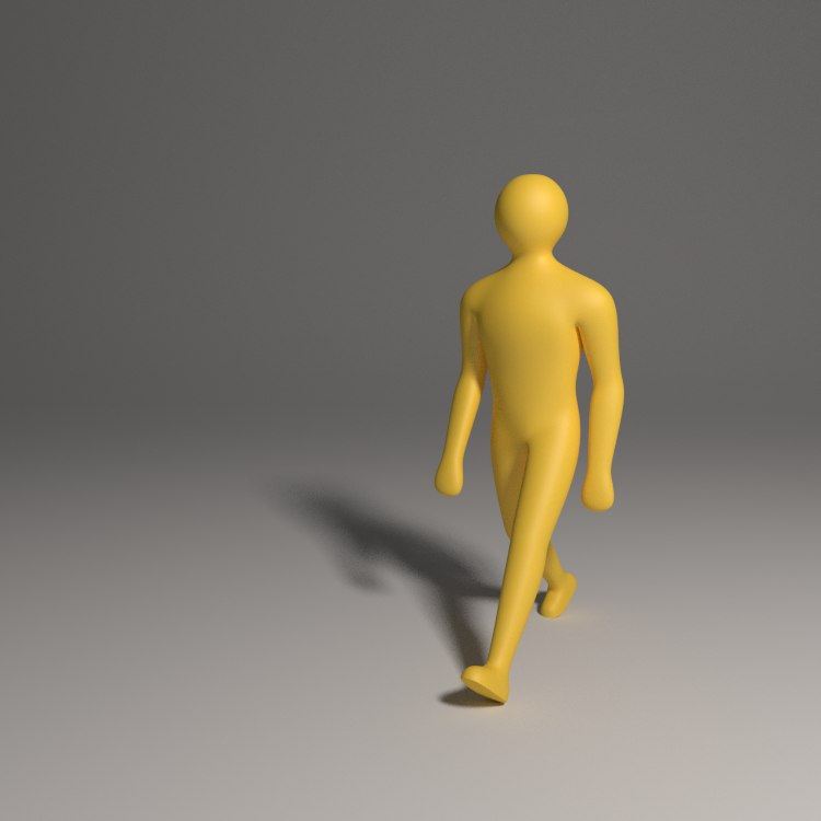 blender simple character rigged