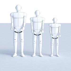 3dm human dummy