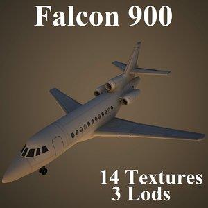 3d model dassault falcon 900