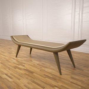 3d model havana bench ralph pucci