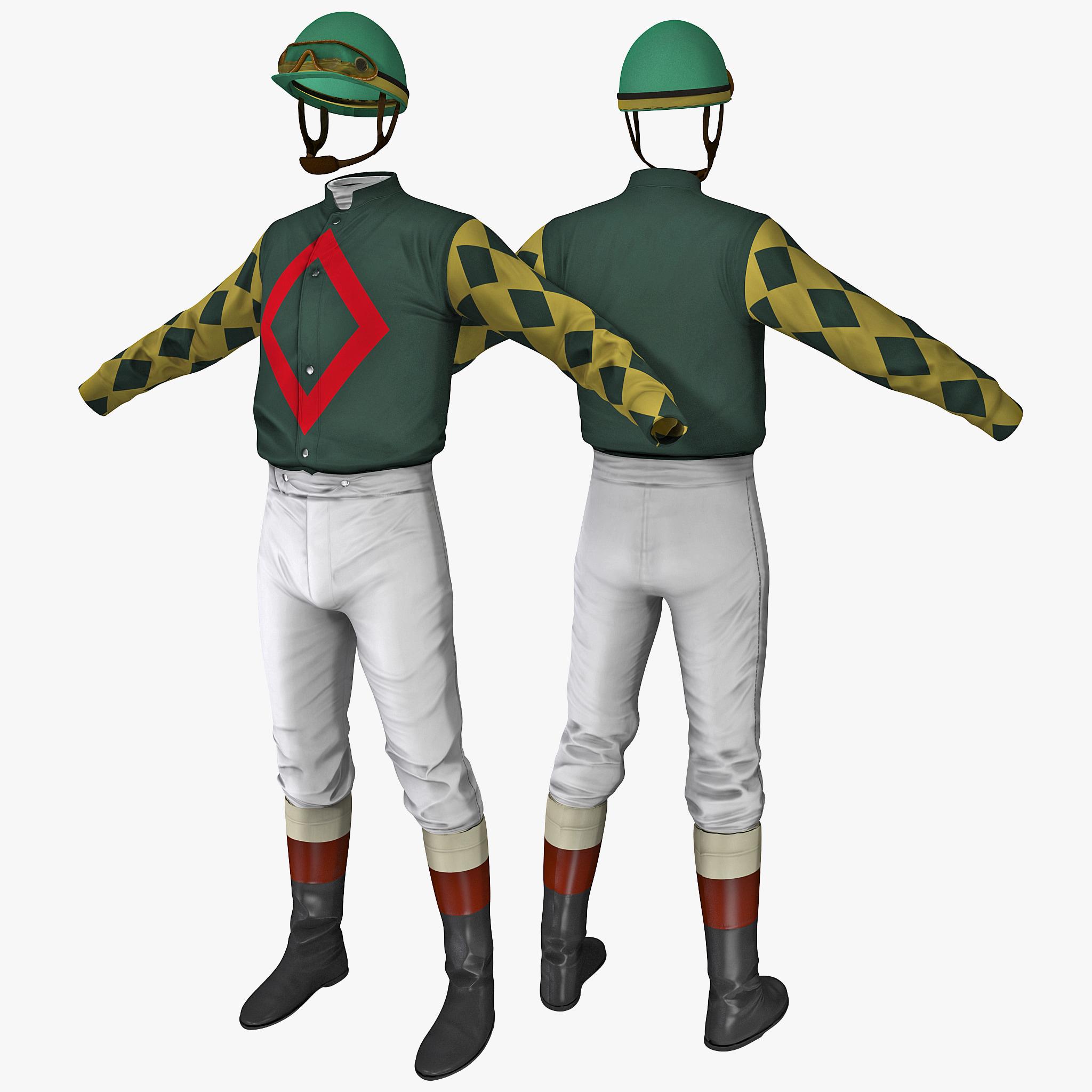 jockey clothes 3d model