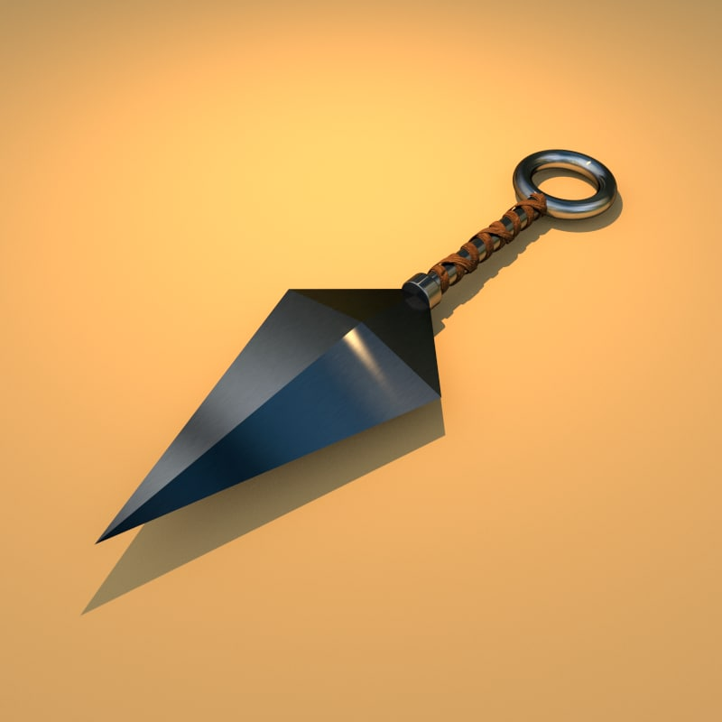 3d kunai ninja weapon model