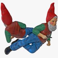 3d model lawn gnome skinny
