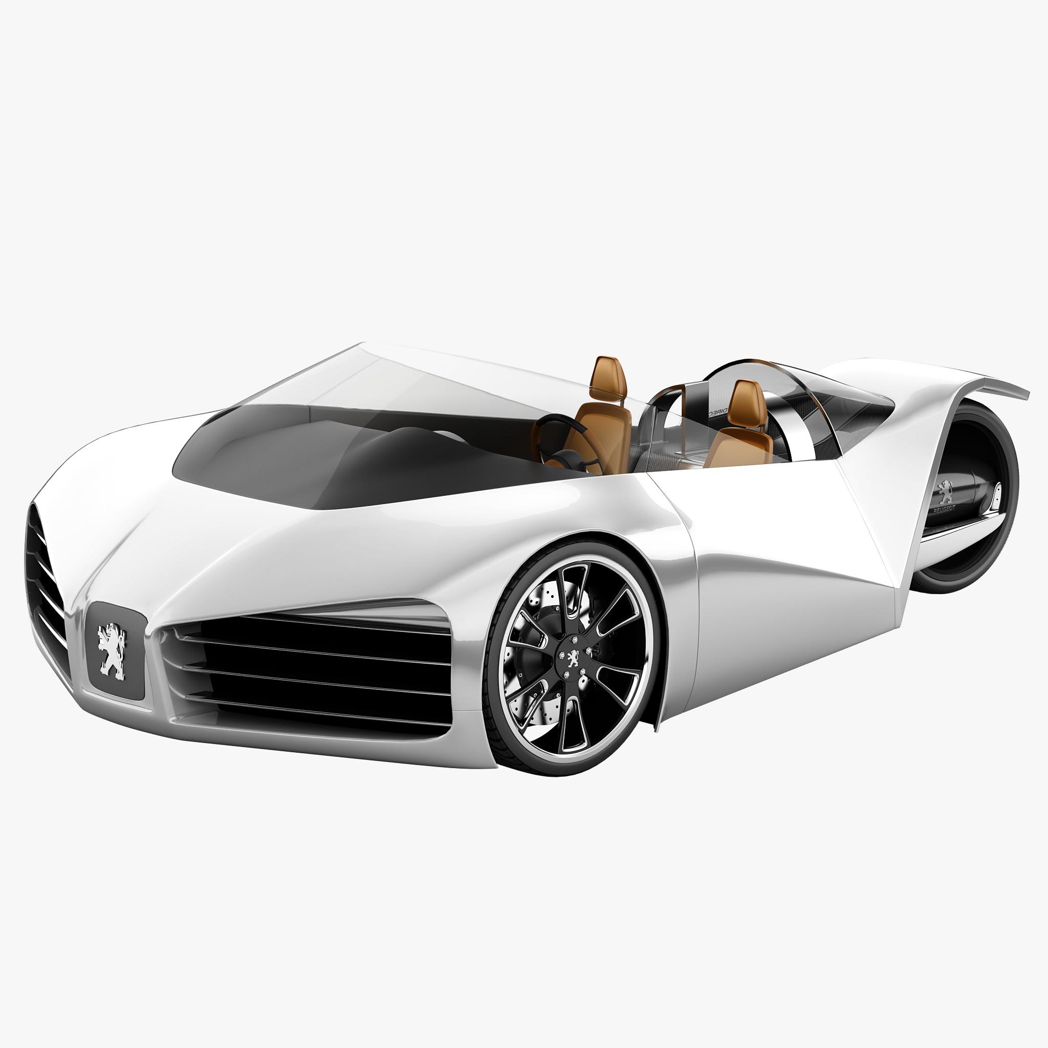 3d peugeot velocite eco concept car model