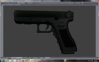 G18 low poly pistol