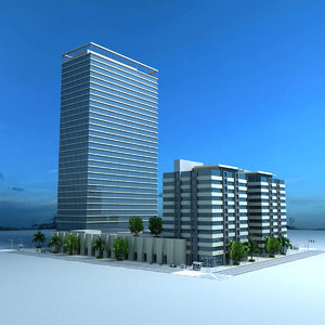 tamouh tower 3d max