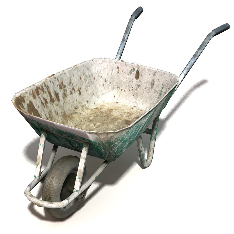 3d model wheelbarrow construction garden