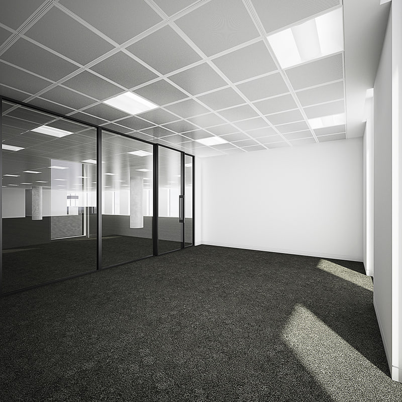 interior commercial office partitioned max