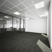 Commercial Office Interior with Partitioning