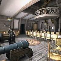 3d classic interior ship model