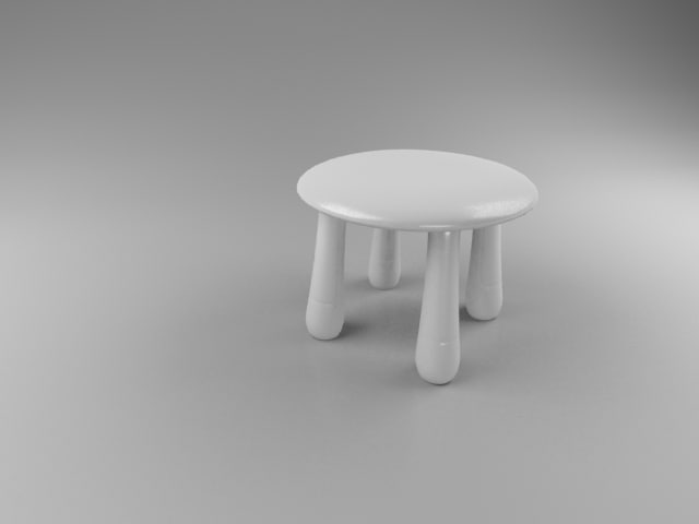 3d small wood chair model