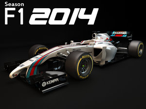 williams fw36 2014 3d max