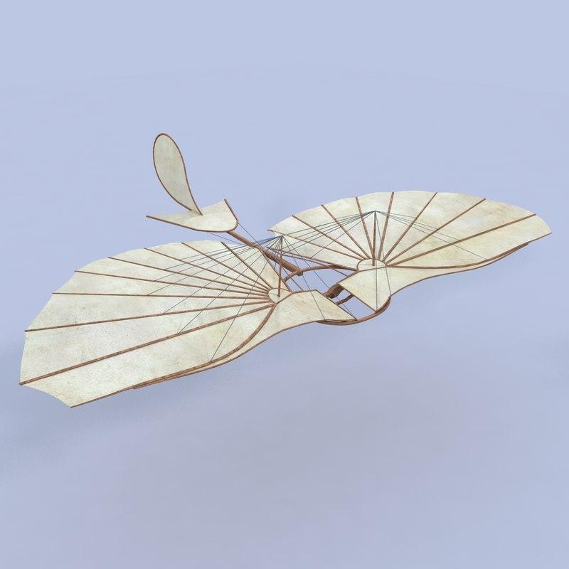 otto glider v-ray 3d model