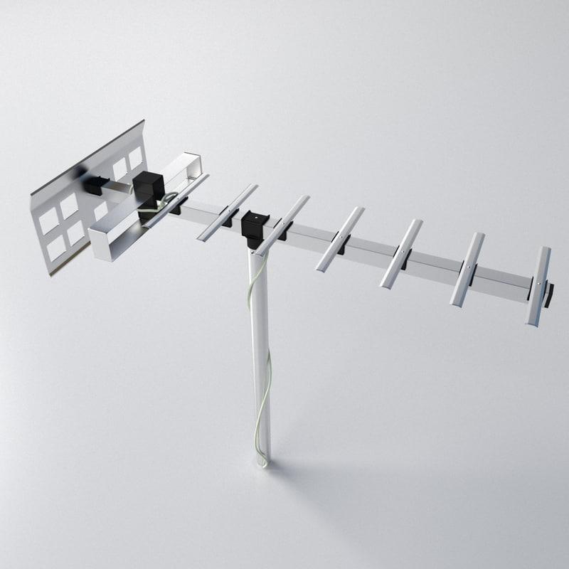 tv aerial 1 3d 3ds