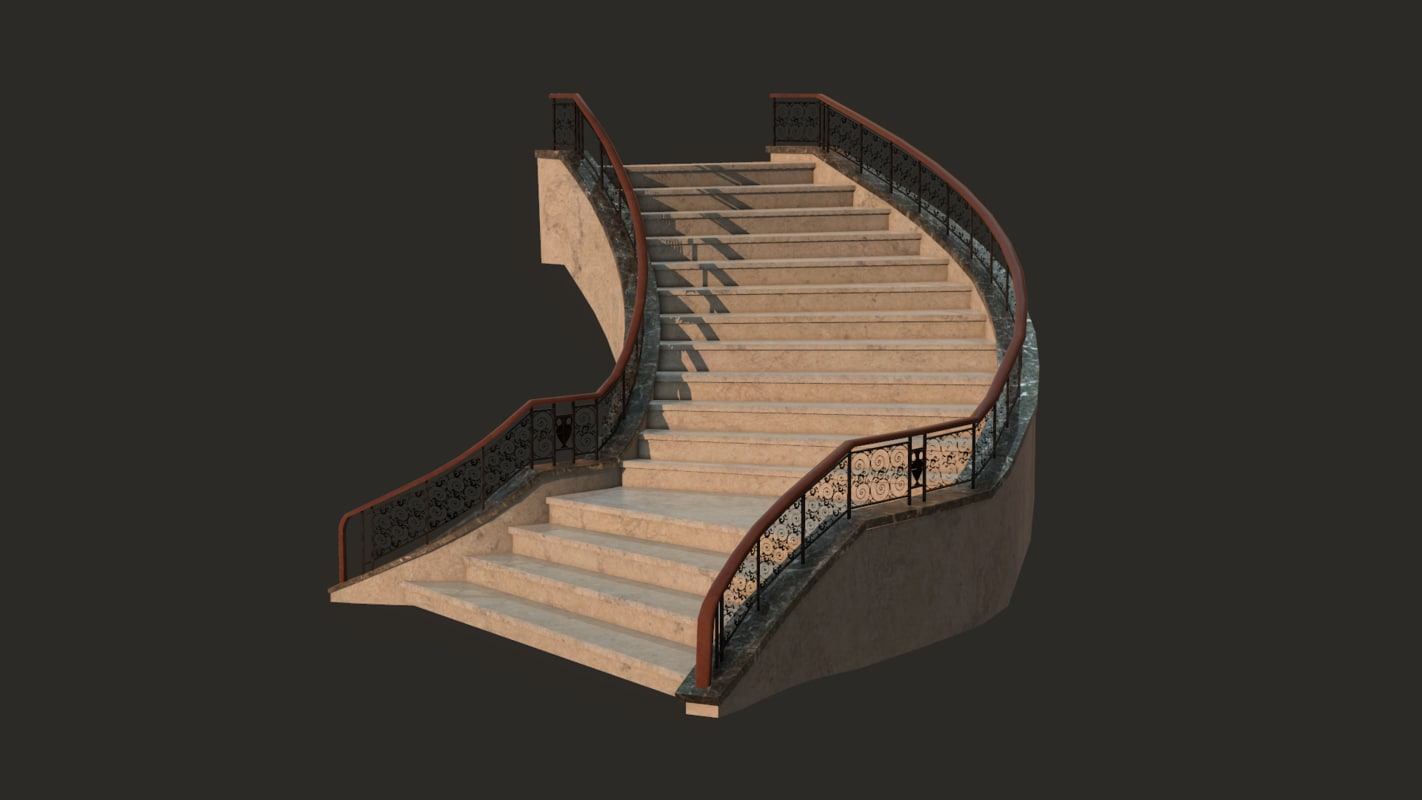 3d fantasy staircase
