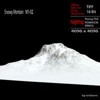 snowy mountain m1-02 3d max