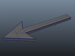 arrow sign 3d model