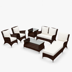 3d model wing furniture synthetic rattan