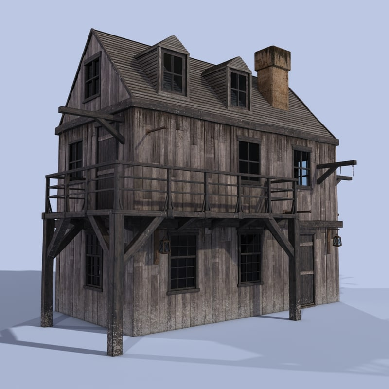 house wooden 3d max