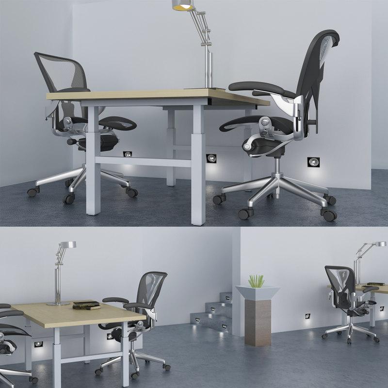 white office 3d model