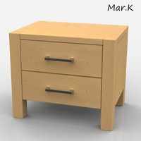 3d model of bedside table