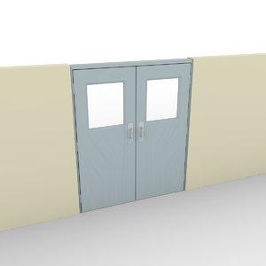 free door wall 3d model