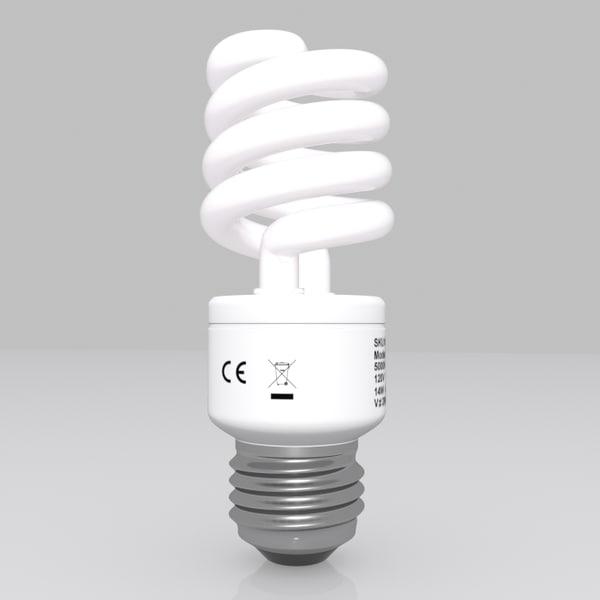 3d energy saving light bulb model