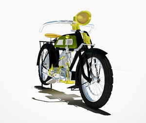 classic motorcycle 1921 3d model