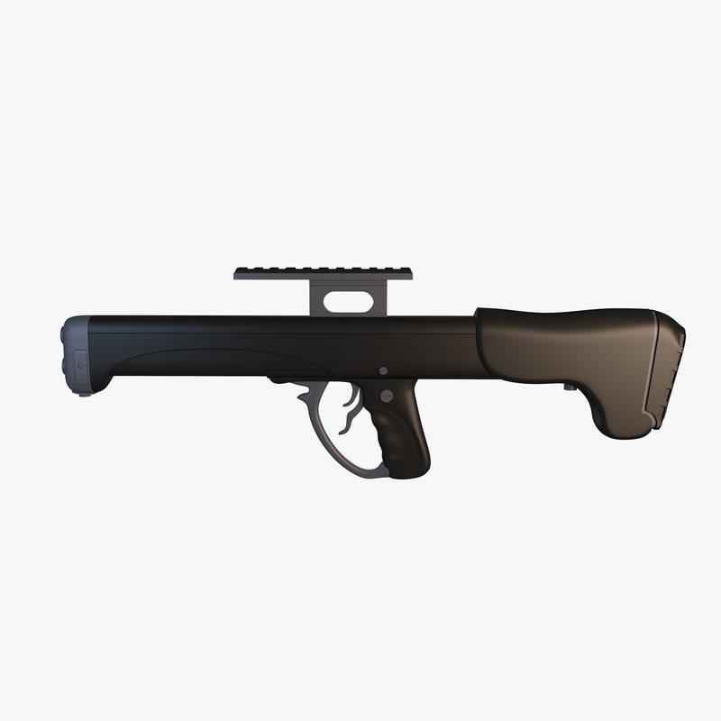 3ds max machine gun