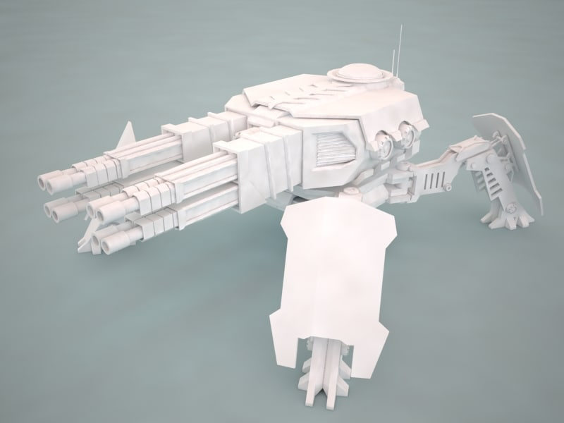 3dsmax turret canon 4f